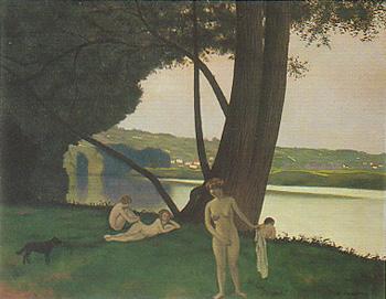 フェリックス・ヴァロットン『浴女のいる風景』