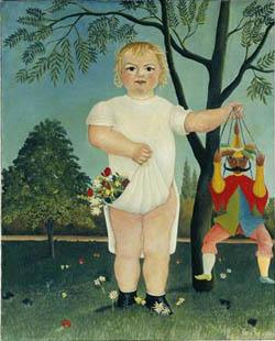 アンリ・ルソー『赤ん坊へのお祝い』