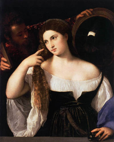 『鏡の女』ティツィアーノ・ヴェチェッリオ