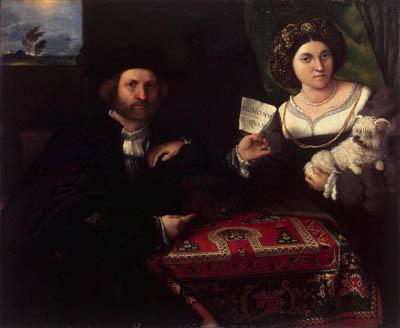 【ニッコロ・ボンギとその妻の肖像】ロレンツォ・ロット