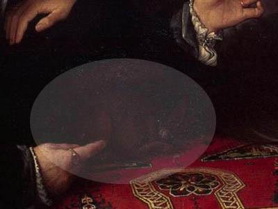 ニッコロ・ボンギとその妻の肖像(部分)】ロレンツォ・ロット