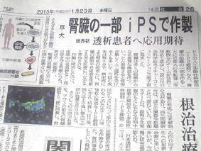 神戸新聞(2013.1/23・朝刊)