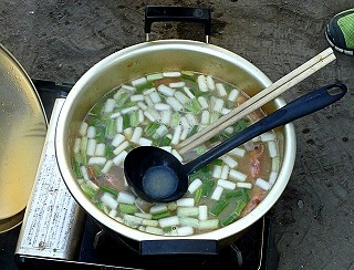 海老入り味噌鍋