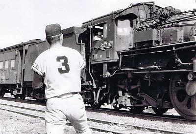 長嶋さんと機関車