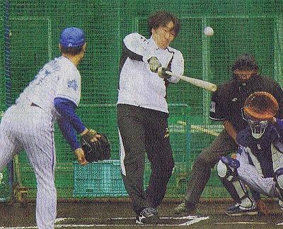 松井のフリー打撃