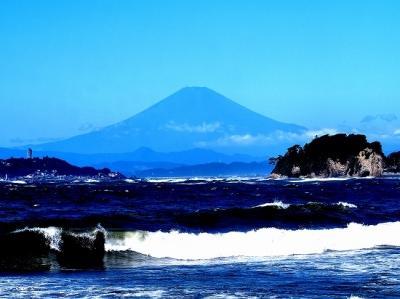 飯島公園にて富士
