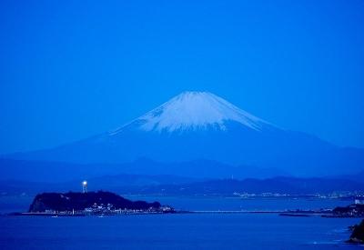 富士と江の島
