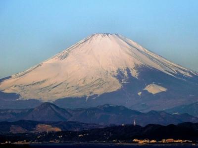 今朝の富士山。