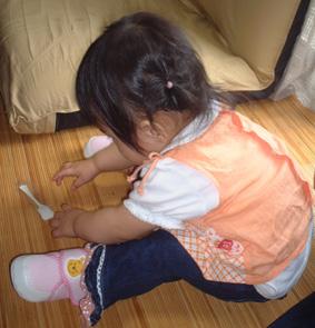 お家で靴履き練習