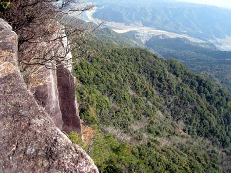 可愛岳 覗き展望所からの眺め