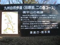二ノ岳三ノ岳 コース看板
