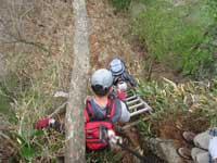傾山 はしご