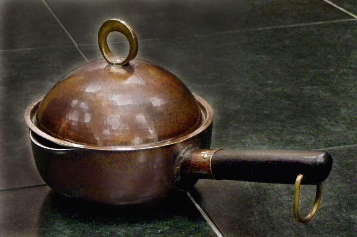 片手鍋 銅蓋 No.3534
