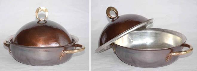 4141両手鍋銅蓋