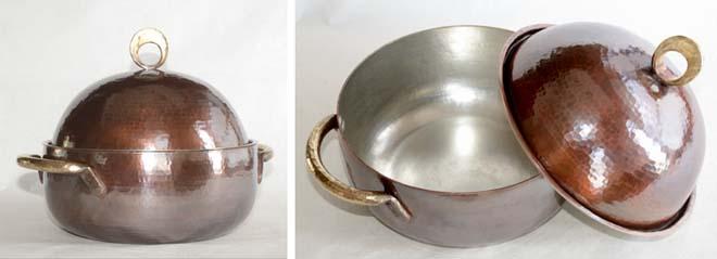 両手鍋 銅蓋 基本形