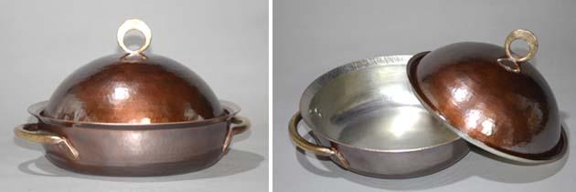 4414両手鍋丸縁銅蓋