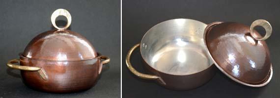 両手鍋銅蓋小