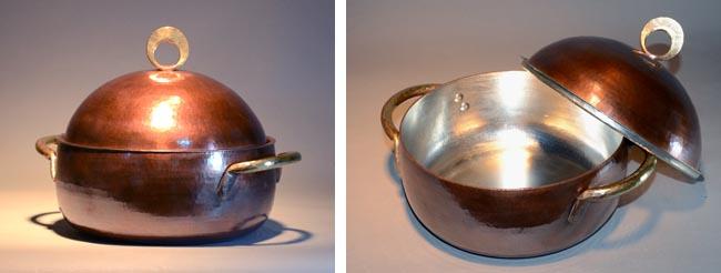 4560両手鍋銅蓋34