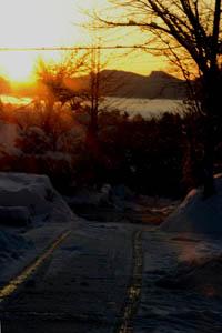 雪の翌朝1