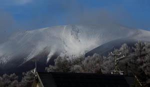 針のような霜/浅間山
