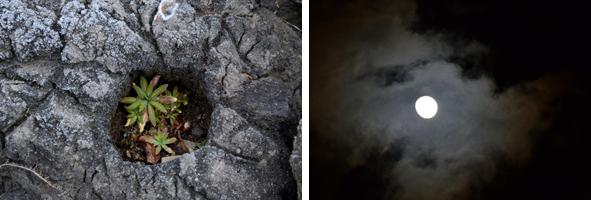 焼け石の穴/月