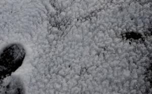 雪融け模様