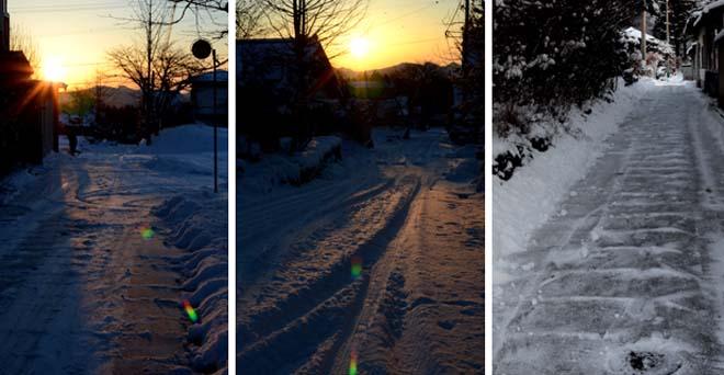 朝の雪かき