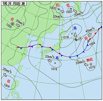 2020073003時天気図