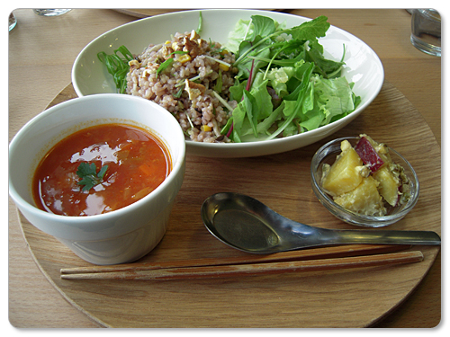 brown rice salad & soup