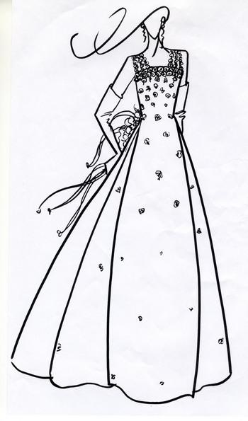 ウェディングドレス デザイン画