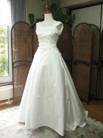 シルク ウェディングドレス プリンセスライン