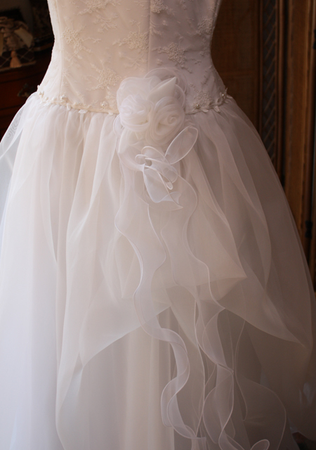 ウェディングドレス リメイク お母様のドレスから