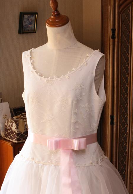 上半身ウェディングドレス デザイン リメイク