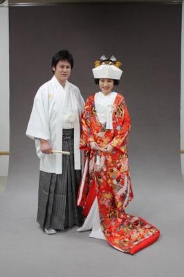 ブライダルフォト 結婚式 色打掛 和装