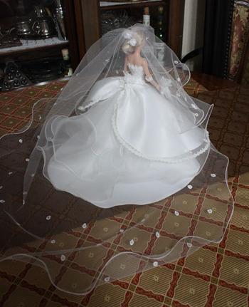 ミニチュアウェディングドレス ヴェール