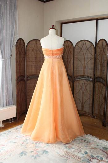 ロングドレス オレンジ 販売