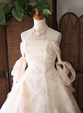 ウェディングドレス カラー お色直し 上半身デザイン オフショルダー 2way