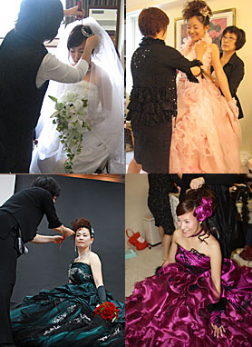 ウェディングドレス カラードレス カクテルドレス 撮影とお支度