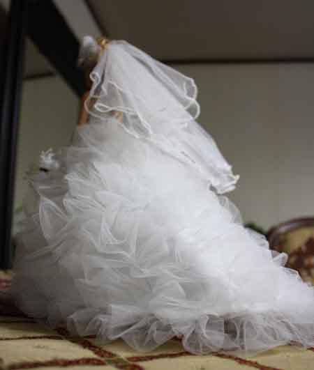 ミニチュアウェディングドレス サプライズ