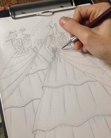 デザイン画 子供用ドレス オーダー