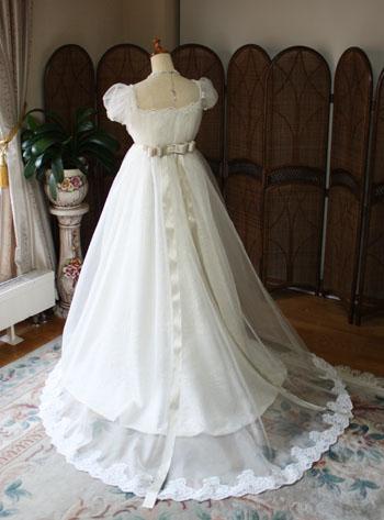 オーダーメイドウェディングドレス シルク素材 アンティークデザイン