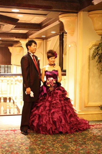 旭川グランドホテル お色直しカラードレス フルオーダー