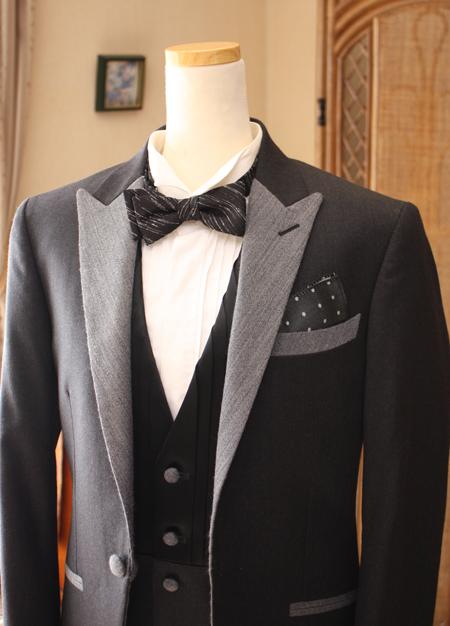 タキシード 結婚式用 襟元デザイン