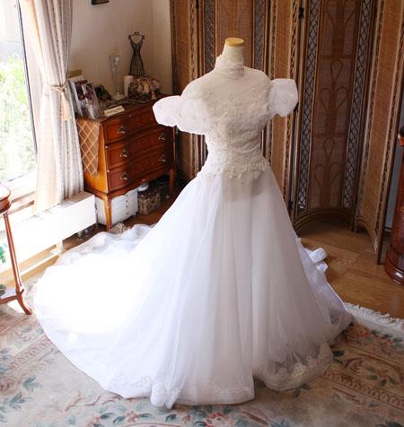 ウェディングドレスのビスチェ