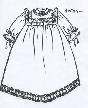 ベビードレスのデザイン画