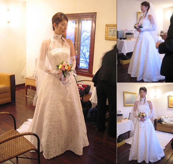 プリンセスライン ウェディングドレス アメリカンスリーブ