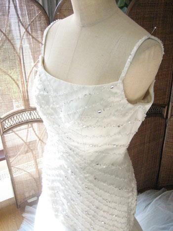 ウェディングドレス マーメイド ライトブルー