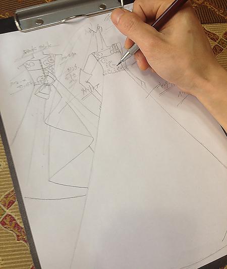 オートクチュールウェディングドレス デザイン