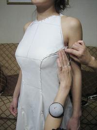 仮縫い ドレス制作