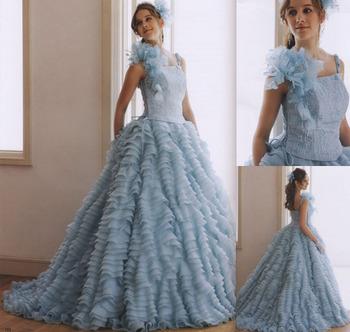 お色直しカラードレス ブルー 札幌